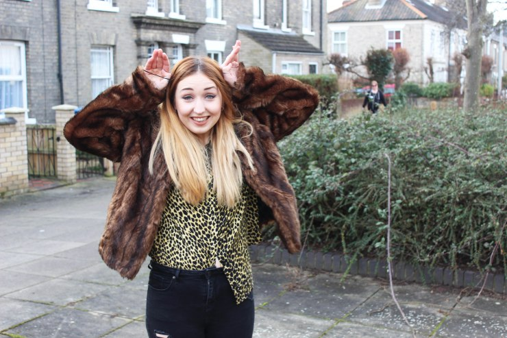 silly fur coat